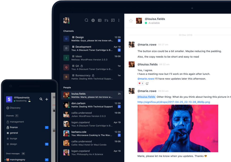 Rocket Chat: open source self-hosted Slack alternative